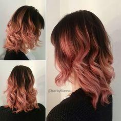 Rose gold done right @hairink #fallhair #paulmitchell #hairbyilianna