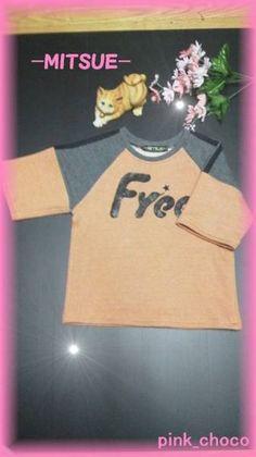Kids Wear ハンドメイド 7分袖トレーナー【Free】 インテリア 雑貨 Handmade ¥1480yen 〆05月27日