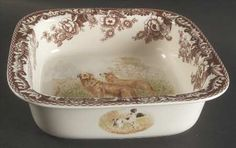 Square Baker in the Woodland pattern by Spode China