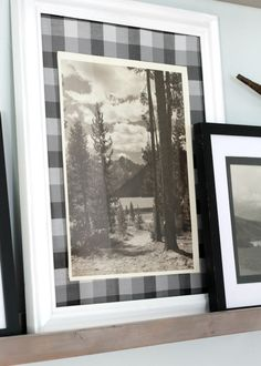 Here is an easy & affordable way to update your gallery wall and picture frames with fabric.