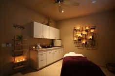 Salon 119 & Spa || Day spa || massage therapy room || esthetician room || aesthetician room || esthetics || skin care || body waxing || hair removal || body scrub || body treatment room