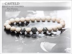 Bracelet homme perles de rivière.. Une création CASTELD #bijouxpourhomme #bracelet #style  http://www.casteld.com/bijoux-homme