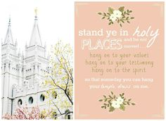 { Mormon Share } Stand Ye in Holy Places Lesson (Temple Hanger Handout) Young Women Handouts, Young Women Lessons, Young Women Activities, Yw Handouts, Lds Church, Church Ideas, Church Quotes, Visiting Teaching, Church Activities