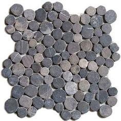 Black Circle Pebble Tile                                                                                                                                                                                 More