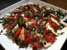 caprese salad recipe: Try this caprese salad recipe, or contribute your own. Caprese Salad Recipe, Food Obsession, Salad Dressing, Bruschetta, Salads, Appetizers, Snacks, Dining, Cooking