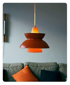 Vintage Danish lamp. Søværnspendel. Louis Poulsen. 1950s.