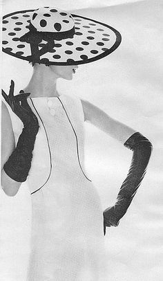 black polkadot hat Butterick by DesignCracker, via Flickr