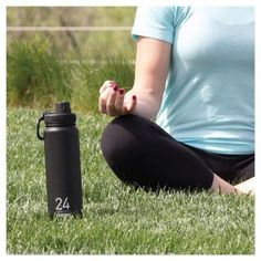 Takeya Thermoflask 24oz Insulated Stainless Steel Water Bottle - Black