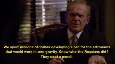 """The United States also used a pencil. The Fisher Space Pen was developed privately with no funds from the US government. 