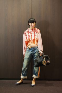 Photo by droptokyo Night Outfits, Casual Outfits, Star Fashion, Womens Fashion, Cool Style, My Style, Cute Jeans, Denim Outfit, Alters