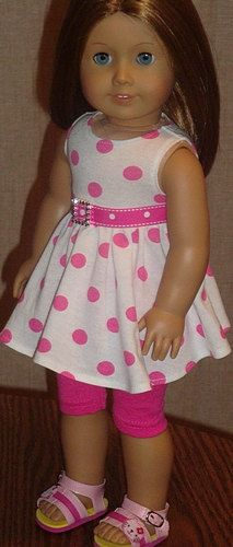 Pink Polka Dot Twirl Dress And Leggings For by AngelKissesBoutique