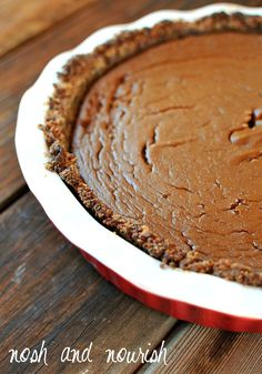 Yummy {Sweet Potato Pie} on a Maple Quinoa Crust | Nosh and Nourish