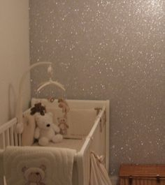 Mix a gallon of glue with glitter - paint walls - glitter walls! - This could be done on any one wall of either bedroom. Check on it.