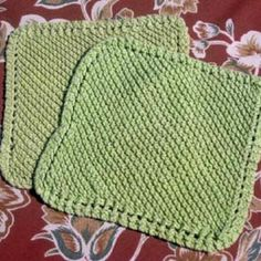 You will love knitting the Garter Stitch Dishcloth for yourself and for gifts.  Good project for practicing increasing & decreasing stitches.