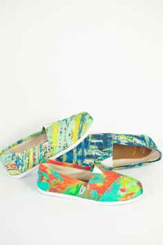 Wearable art. TOMS Shoes by Tyler Ramsey.