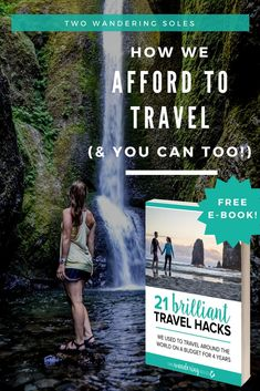 How We Afford to Travel the World (& You Can Too!) We're sharing these 21 money-saving travel hacks in our FREE 30-page eBook. These tips have helped us travel around the world for 4 years. #Money #travelhacks #hacks #travel