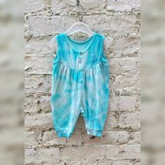Tie Dye Baby Romper Baby Vest Velour Hippie Playsuit age 0 - 3 months Blue Baby Boy Baby Girl Shower