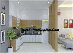 phong bep nha cap 4 dep rong 5m My House Plans, Kitchen Cabinets, Home Decor, Home, Board, House, Decoration Home, Room Decor, Cabinets