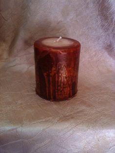 Hazelnut Fudge Pillar Candle by EnchantedAutumn2012 on Etsy, $6.00