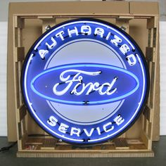 Neon Sign in Metal Can - Authorized Ford Service 36 Inch – Oldies of Usa Partners