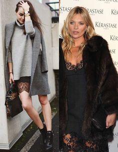 Vestido lencero #tendencias #bloggers #streetstyle #KateMoss