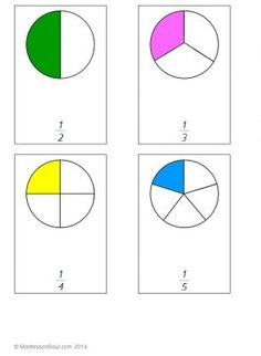 Free Printable: Fractions (Three part cards)