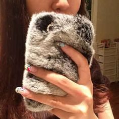 When it's too warm for YOU to wear faux-fur. | 12 Most Outrageous Phone Cases In Existence