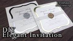 How to make an elegant lace motif and brooch invitation diy how to make elegant wedding invitations diy wax seal invitation youtube solutioingenieria Gallery