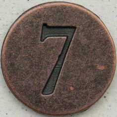 In your Numerology chart, the Life Path Number is the symbolic essence of a person`s birth date, and it is calculated based on the date of your birth. Lucky 7, Lucky Number, Number Crafts, Vintage Numbers, Life Path Number, 7 Seven, Numerology Numbers, Bulletins, Metal Plaque