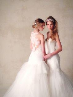 Wedding dress(ウエディングドレス)KENNETH POOL (ケネスプール)左:03-8850 右:03‐8846 Mermaid Wedding, Wedding Dresses, Outfits, Fashion, Bride Dresses, Moda, Bridal Gowns, Suits, Fashion Styles