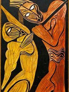 Cecil Skotnes - Assassination of Shaka, Carved