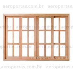 Promoção Vitrô de Correr Reto Quadriculado - Aeroportas - Pisos de Madeira - Portas - Janelas - Esquadrias