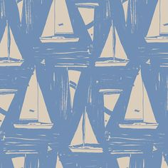 We love a nautical themes vintage print! - Vintage Print - Vintage Papers - Pretty Pattern - Nautical