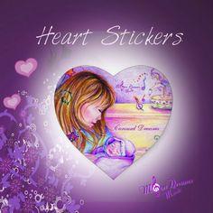 Heart Stickers by #MoonDreamsMusic #HeartStickers #CarouselDreams #ValentinesDay #NewBaby