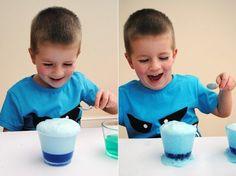 5 Experimentos para niños con bicarbonato y vinagre