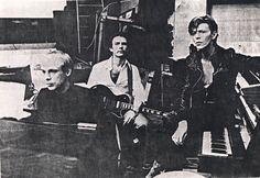 Brian Eno, Robert Fripp y David Bowie