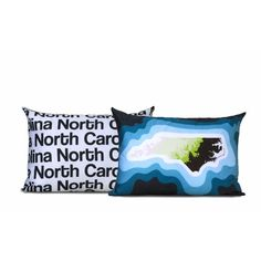 North Carolina Map Pillow / Topographic / Typographic by Cartoloji, $60.00