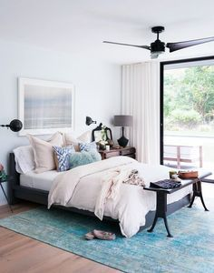Designer Athena Calderone's Amagansett bedroom is a beautiful example of a high-low mix. She paired the IKEA Malm bed with an ABC Carpet & Home Color Reform Silk Overdyed Rug (prices begin...