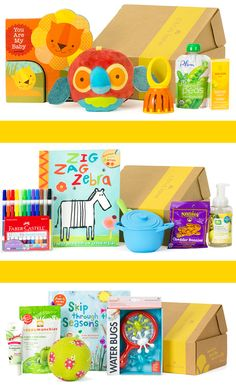 It's a monthly box of products for your little one! // Looks like a beautiful surprise selection. Wish I got a subscription for my baby shower gift. ;)
