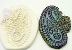 Mold or Texture Tool - Paisley Design - Polymer Clay - Handmade OOAK