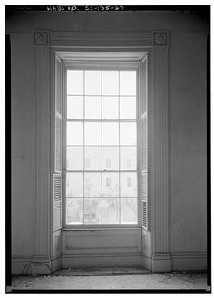 5 x 7 in. Windows, Shutters, Greek Revival, Home, Interior, Views, Wall, Hall, Open Market