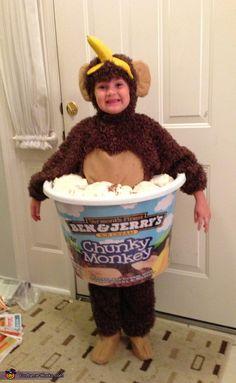 chunky monkey ice cream costume - Halloween Monkey Costumes