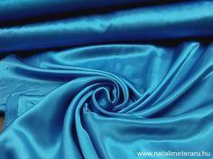 Türkíz kék szatén SZAT44