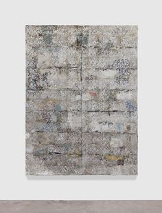 Hugo McCloud, untitled, 2013, aluminum foil, aluminum coating, oil on tar, mounted on wood, 213,3 x 162,5 cm http://hugomccloud.com/ http://www.lucegallery.com/ http://www.skny.com/ http://nnamdicontemporary.com/