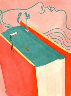 It's Nice That   Jade Schulz's atmospheric and imaginative editorial illustrations