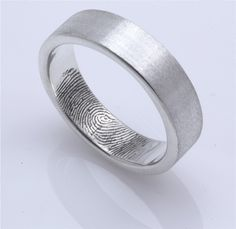 fingerprint wedding bands.