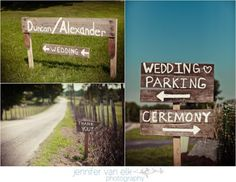 Our Wooden Signs, outdoor wedding signs