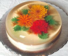18 Best Gelatin Flower And Butterfly Images On Pinterest Pastries