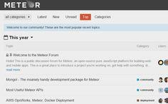 Top topics - Meteor forums