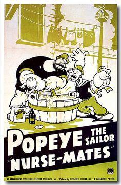 Poster for Fleischer Studio's Popeye short Nurse Mates (1940).